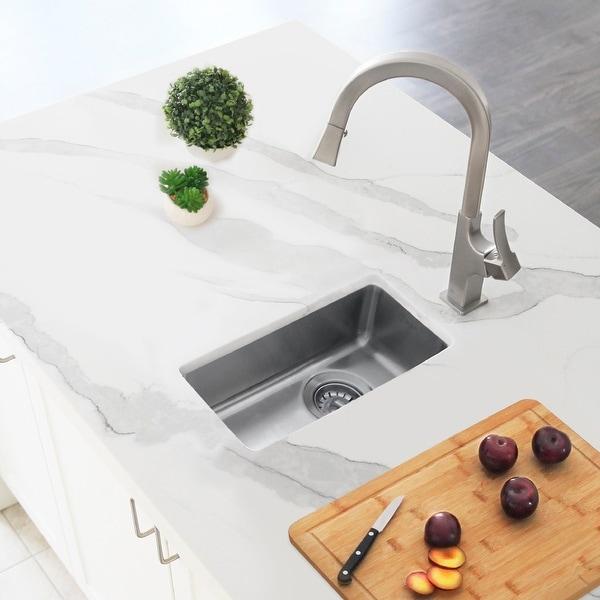 "9"" L x 17 3/4"" W Undermount or Drop-in Stainless Steel Bar Sink (18 Gauge)"