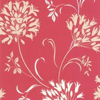 Brewster DL30454 Nerida Pink Floral Silhouette Wallpaper - N/A