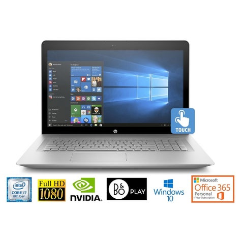 "HP Envy 17 Core i7-8850U 16GB 17.3"" FHD Touch WLED NVIDIA 4GB Office 365 Laptop (Certified Refurbished)"