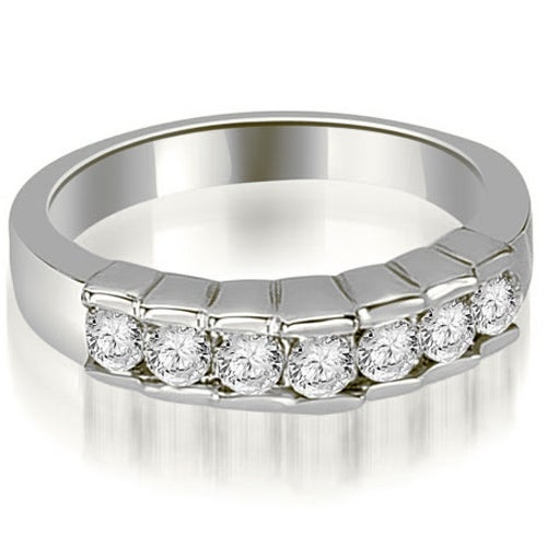 0.55 cttw. 14K White Gold Round Cut Diamond Wedding Band