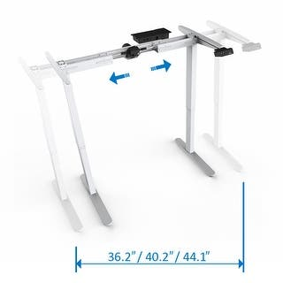 "Mingo Lab 48""H Electric Height Adjustable Standing Desk Frame Ergonomic Solid Steel Sit-to-Stand Desk W/ 7-Button Control Pad