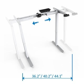 "48""High Electric Height Adjustable Sit and Stand Desk Frame with Seven Button Control Pad"