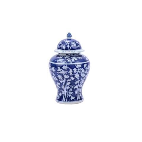 Bamboo Magpie Temple Decorative Jar