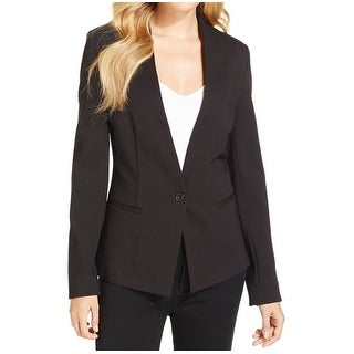 Calvin Klein NEW Black Women's Size 16 Single Button 2-Pocket Blazer