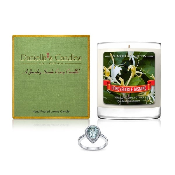 Daniella's Candles Honeysuckle Jasmine Jewelry Candle, Ring Size 9