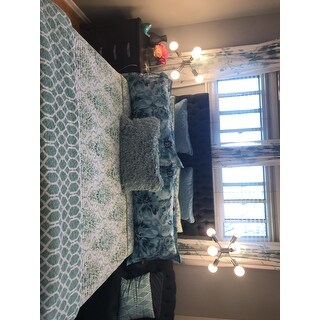 Five Queens Court Kinsley Teal Bohemian Coverlet