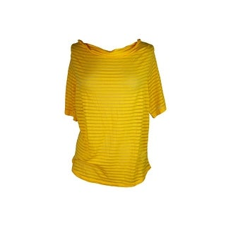 Michael Michael Kors Plus Size Yellow Burnout Cold Shoulder Top 0X