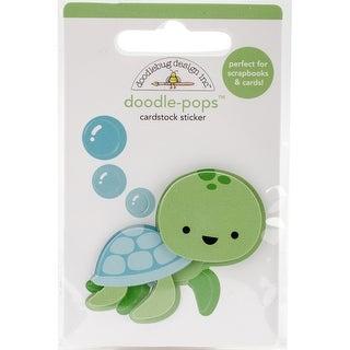 Doodlebug Doodle-Pops 3D Stickers-Tiny Turtle