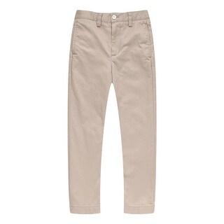 Richie House Little Boys Khaki Leisure Cotton Pants 3-7