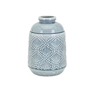 IMAX Home 32137  Felix Medium Ceramic Vase - Blue