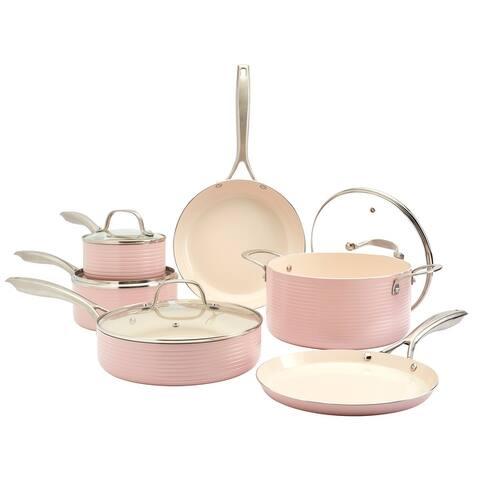 Denmark 10PC Hamilton Aluminum Cookware Set - Blush