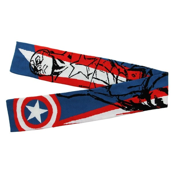 Marvel Captain America Scarf - Blue