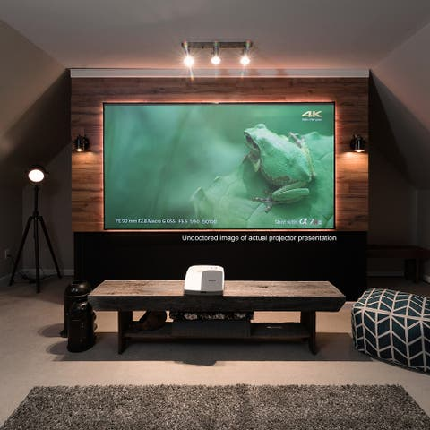 "Elite Screens AR100H-CLR Aeon CLR Series 100"" Ultra-Short-Throw Projector Screen - White"