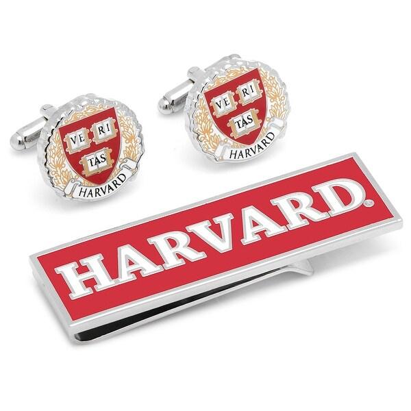 Harvard University Cufflinks and Money Clip Gift Set