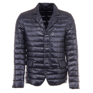 Duvetica Bacco Barrelled Quilted Down Fill Jacket Navy Blue Large L