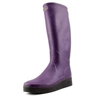 Le Chameau BTE Paris J Fe Women Round Toe Synthetic Purple Rain Boot
