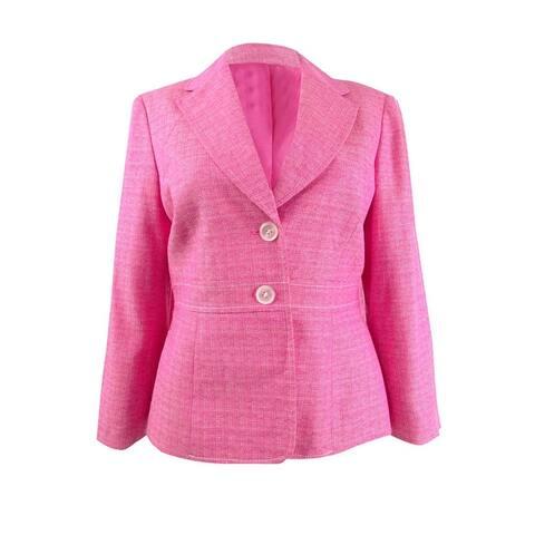 Kasper Women's Cross-Dyed Tweed Blazer