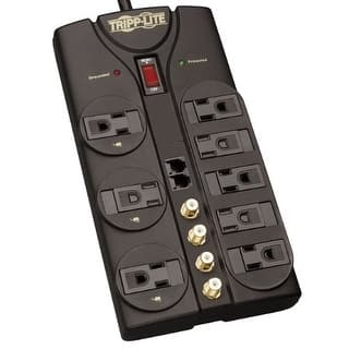 Tripp Lite TLP810SATW Tripp Lite TLP810SAT Surge Protector 120V 8 Outlet RJ11 Coax 10ft Cord 3240 Joule|https://ak1.ostkcdn.com/images/products/is/images/direct/2f453c91824fa34330004d88fed9baee397b4b89/Tripp-Lite-TLP810SATW-Tripp-Lite-TLP810SAT-Surge-Protector-120V-8-Outlet-RJ11-Coax-10ft-Cord-3240-Joule.jpg?impolicy=medium