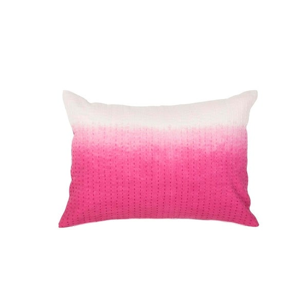 "20"" Sunrise Pink and Ocean White Two Tone Abstract Pattern Decorative Throw Pillow"