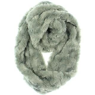 Calvin Klein Womens Infinity Scarf Faux Fur Cowl - M