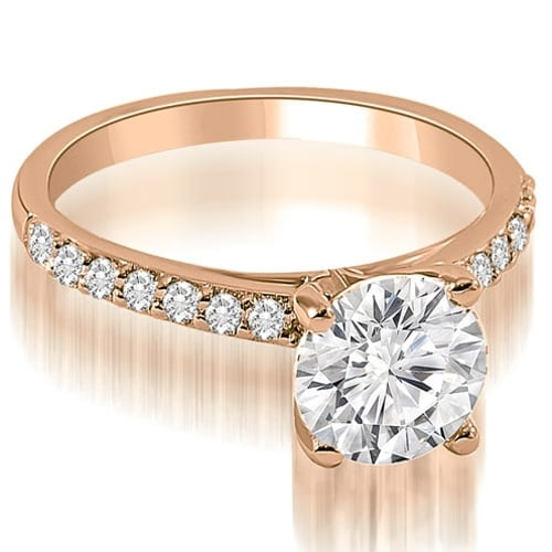 1.20 cttw. 14K Rose Gold Round Cut Diamond Engagement Ring