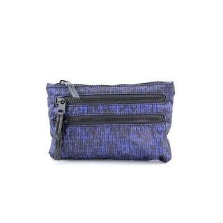 Shiraleah Colorado Zip Women Nylon Cosmetic Bag NWT - Blue