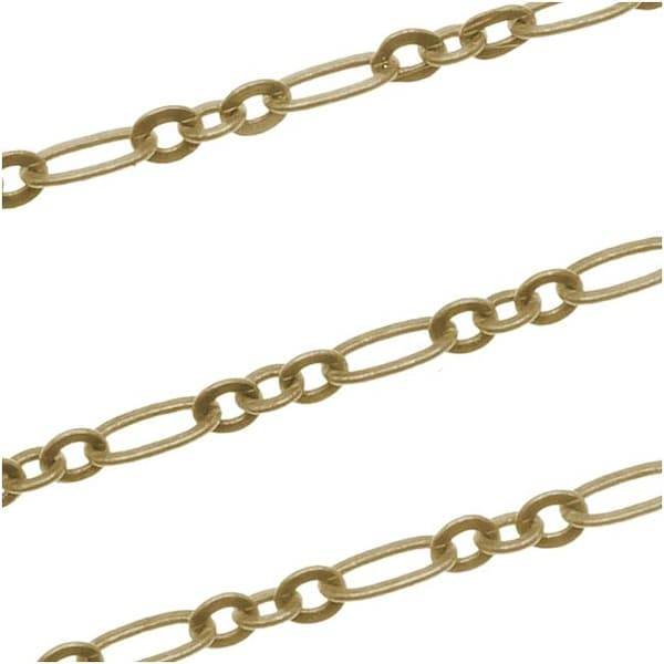 Antiqued Brass Long And Short Chain 2.5x4.5mm - Bulk By The Foot