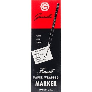 Paper Wrapped China Markers-White
