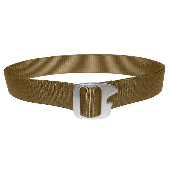 Bison Designs Tap Cap Gunmetal Buckle Bottle Opener Belt - Coyote Brown