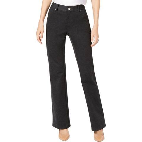 I-N-C Womens Curvy Heathered Casual Trouser Pants