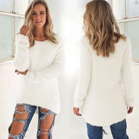 Solid Color Women's Sweater
