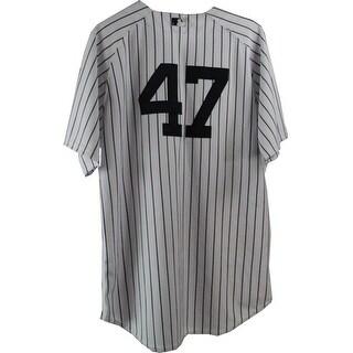 Ivan Nova Jersey  NY Yankees 2013 Season Game Used 47 Pinstripe Jersey  0000002932 Size 50 EK689776