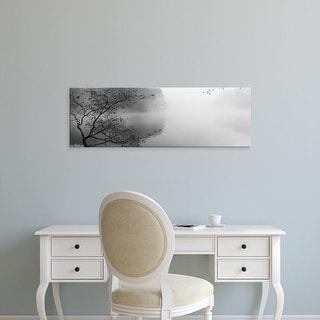 Easy Art Prints Panoramic Image 'Reflection of trees in a lake, Lake Vesuvius, Wayne National Forest, Ohio' Canvas Art