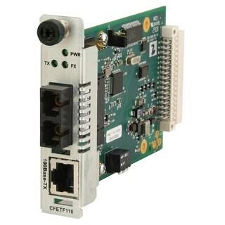 """Transition Networks CFETF1011-110 Transition Networks Fast Ethernet Media Converter - 1 x RJ-45 , 1 x ST - 100Base-TX,"