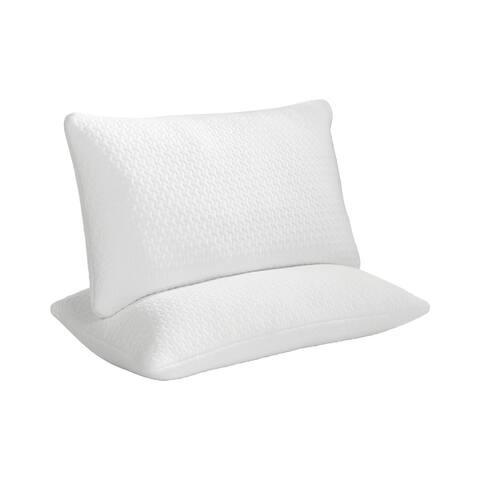 Eaton Shredded Memory Foam Pillow, Set of 2