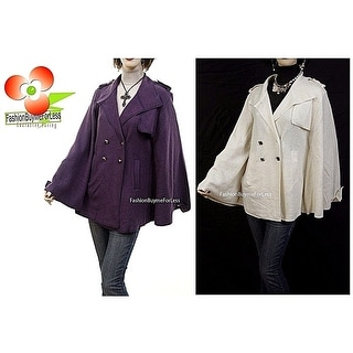 Link to Haute Boho Gypsy Studded Wool Poncho Cape Outerwear Sweater Jacket Coat S M L Similar Items in Women's Outerwear