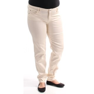 CELEBRITY PINK $25 Womens New 1252 Ivory Skinny Casual Pants 15 Juniors B+B