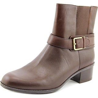 Bandolino Caven Women Round Toe Leather Brown Ankle Boot