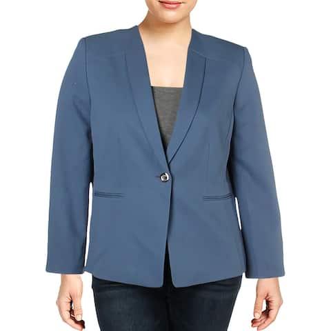 Tahari ASL Womens One-Button Blazer Business Office