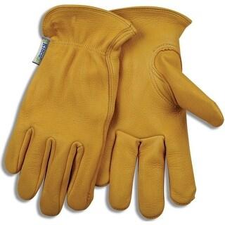Kinco 90W-L Women's Unlined Deerskin Driver Gloves, Large, Golden