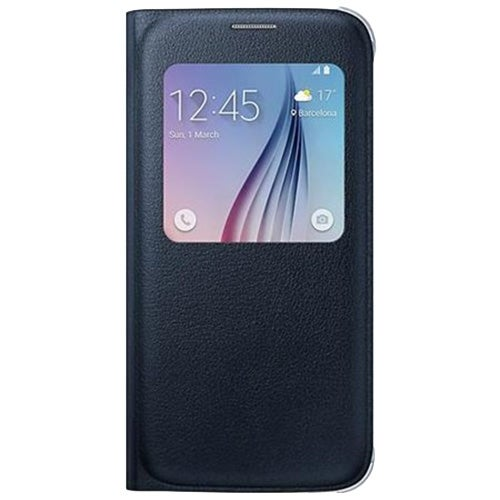 Samsung Galaxy S6 S-View Flip Cover - Black Sapphire