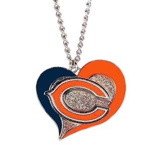 Chicago Bears NFL Swirl Heart Necklace