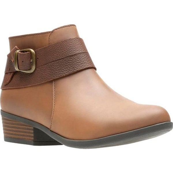f909c099021c Shop Clarks Women s Addiy Cora Ankle Bootie Tan Leather - Free ...