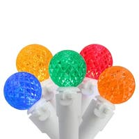 "Set of 50 Multi-Color LED G12 Berry Christmas Lights 4"" Bulb Spacing - White Wire - multi"