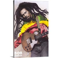 Premium Thick-Wrap Canvas entitled Bob Marley () - Multi-color