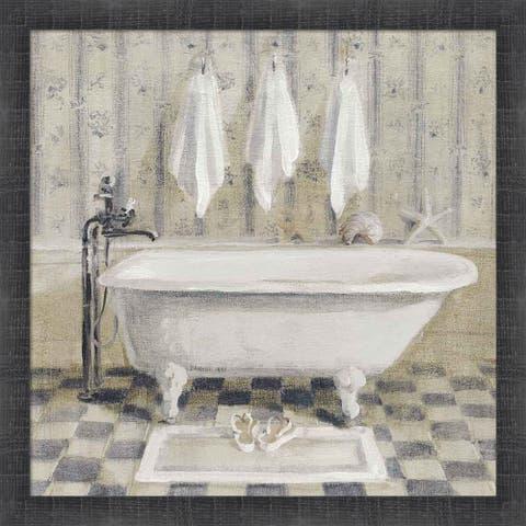 Danhui Nai 'Victorian Bath IV White Tub' Framed Art