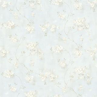 Brewster MEA44107 Rosemoor Blue Country Floral Wallpaper