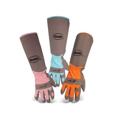 Boss 8419B Extended Sleeve Ladies Garden Gloves, Assorted color
