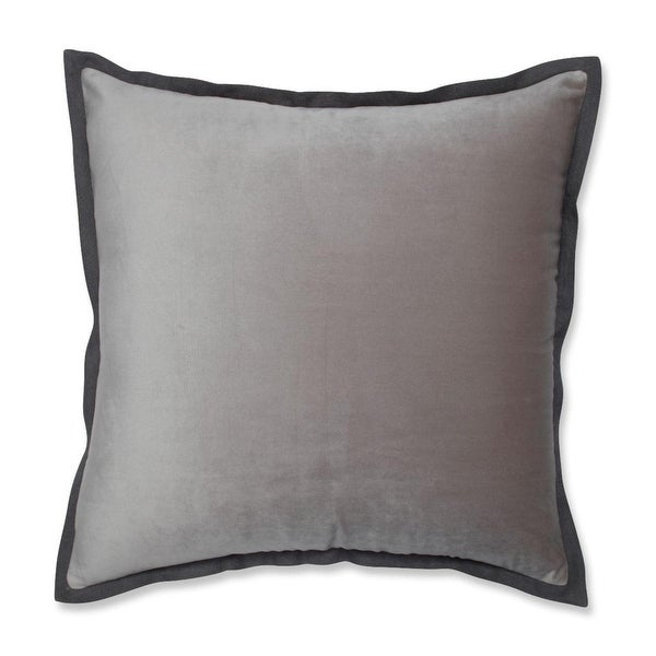 "18"" Springtime Dove Gray Flange Decorative Throw Pillow"