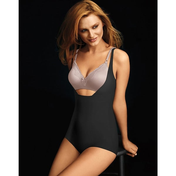 2caa7e39f5011 Shop Maidenform® Sleek Smoothers™ Wear Your Own Bra Body Briefer - Size - S  - Color - Black - Free Shipping On Orders Over  45 - Overstock - 13901026